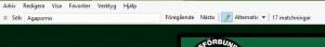 Sökruta i Internet Explorer
